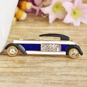 Jewelry - Crystals Fashion Blue Car Brooch
